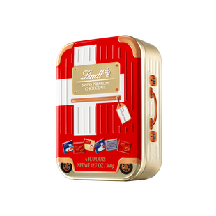 Valise Lindt Swiss Premium Chocolate Napolitains Suisse 360g