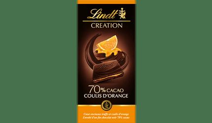 Création Noir 70% Coulis Orange