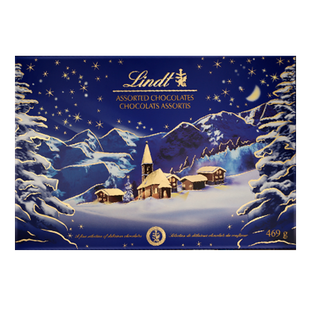 Boîte LINDT Paysage de Noël 469g