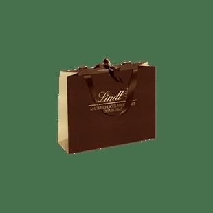 Sac en papier brun & doré Lindt - Petit Modèle