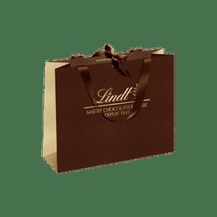 Sac en papier brun & doré Lindt - Moyen Modèle