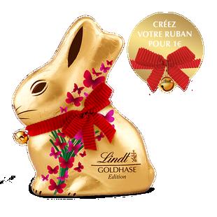 Moulage en chocolat Lapin Or Papillon Lindt 200g