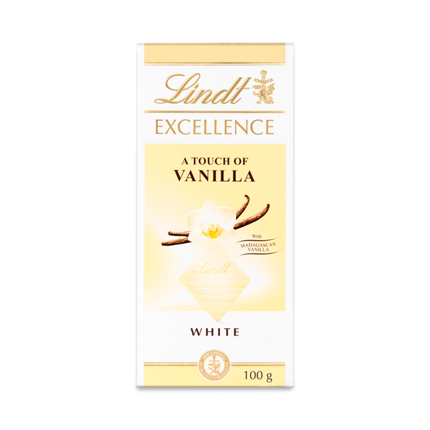 Lindt Excellence White Vanilla Bar 100g