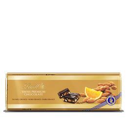 Tablette Swiss Premium Chocolate Noir Orange 300g