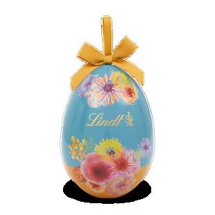 Boîte Oeuf Métal Fleurs Lindor 250g