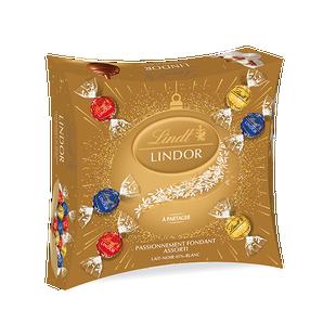 Boîte de partage LINDOR Assorti Or 250g