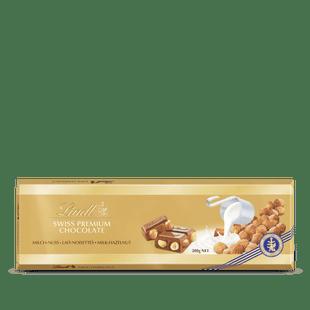 Tablette SWISS PREMIUM CHOCOLATE Lait Noisettes 300g