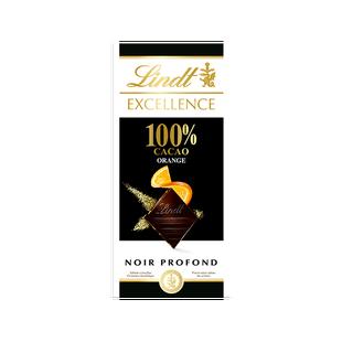Lindt Excellence Noir 100% Orange 50g