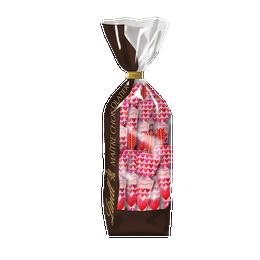 Sachet 10 Parapluies coeurs lait 135g